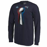 Men New England Patriots Fanatics Super Bowl LIII Champions Trophy LS T-Shirt 53