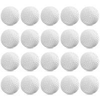 24PCS Plastic Golf Balls White Practice Outdoor Training Aids for Kids Golfer