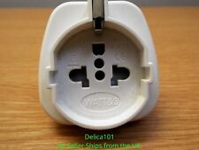 UK 3 Pin Plug to Euro and USA Electrical Adapter