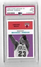 1998 99 Fleer Tradition Vintage 61 Michael Jordan #23 PSA 9