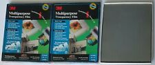 2 Lot 3M Multipurpose Transparency Film. CG6000, 50 Sheets Each New Sealed