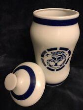 """Vintage MCM Sargadelos Spanish Porcelain Lidded Storage Jar Dresser 9.75"""" Spain"""
