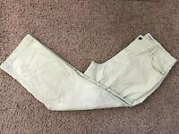 Cherokee Green Modern Flat Front 5 Pockets Women's Pants Size 12 Inseam 26