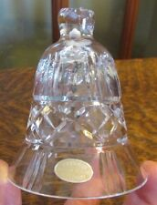 VINTAGE HANDCUT CRYSTAL BELL MADE IN US ZONE GERMANY 1945-49