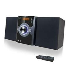 New listing Compact Stereo Shelf System 30W (2x15W) Bluetooth Cd Player Home Music Black