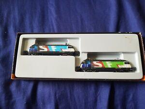 Marklin Mini-Club Z gauge 88446 SBB Re460 locomotive set for Swiss Radio