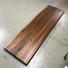 Tischplatte Platte Nussbaum Massiv Holz mit Baumkante Leimholz Waschtischplatte