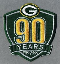 2009 Green Bay Packers AUTHENTIC 90th Anniversary NFL Patch