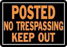 """Hy-Ko 813 Metal Posted No Trespassing Keep Out Sign, 10"""" x 14"""""""