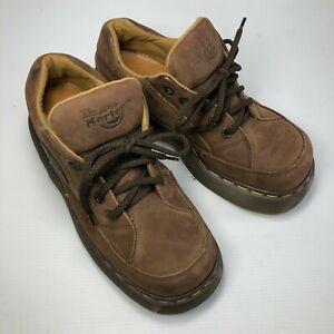 VTG England Doc Martens 8363 Brown Leather Chunky Lace Platform Mens Shoes Sz 7