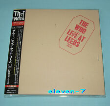 THE WHO Live at Leeds Japan mini LP CD +8 REMASTERED POCP-9198