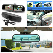4.3'' Digital TFT LCD Dual Screen HD Anti-glare Rearview Mirror Monitor+Bracket