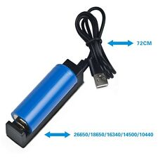 Usb Battery Charger For 26650 18650 16340 14500 10440 Rechargeable Battery