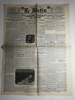 N455 La Une Du Journal Le Matin 28 juin 1918 l'assassinat de Nicolas II confirmé