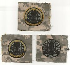 US ARMY / INSTRUCTOR  BADGE SET ACU SEW ON  NEW