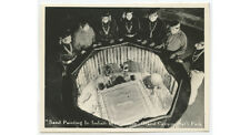 VINTAGE ORIGINAL SNAPSHOT PHOTO OF SAND PAINTING IN INDIAN WATER TOWER