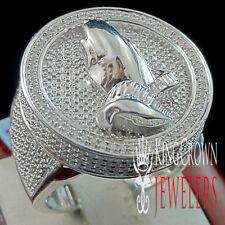Mens Real Genuine Diamond Praying Hands Medallion Circle Top Pinky Ring Band