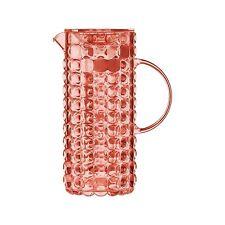 Guzzini Tiffany Caraffa con Bulbo Refrigerante Rosso Corallo trasparente