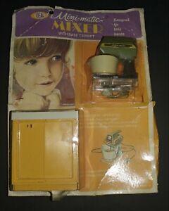 1970 Ideal Mini Matic nip mixer set with base cabinet 4000-6 unused unopened