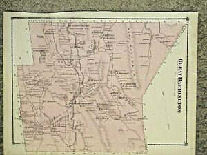 GREAT BARRINGTON, MA., 1876 MAP. BERKSHIRE COUNTY, NOT A REPRINT