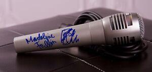 GFA The Cults Band BRIAN & MADELINE FOLLIN Signed New Microphone COA