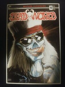 Deadworld # 10 Caliber Comics 1988 1st appearance of the Crow (back cover) Hot!!
