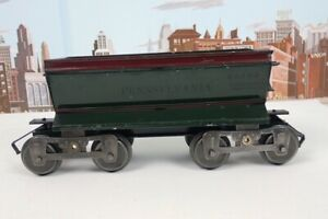 Antique Prewar Lionel Standard Gauge No.16 Green Pennsylvania Ballast Dump Car