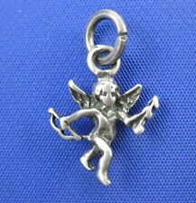 VINTAGE STERLING SILVER 3D CUPID WITH BOW AND ARROW CHARM