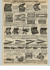 1922 PAPER AD Wade & Butcher Straight Razor Gillette Safety Gem Durham Duplex