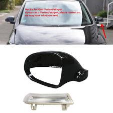 Pour VW Golf V Jetta III Noir Bouchon Miroir Rétroviseur + Clignotant LED Gauche