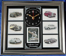 The Classic Bentley Stunning Collector Cards Wall Clock