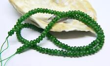 "NATURAL GREEN RUSSIAN CHROME DIOPSIDE RONDELLE BEADS 4.75-5mm 15.75"" STRAND"