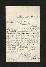 signed 1883 letter to Samuel Colgate by Martha Colgate widow of his cousin Henry