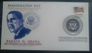 US Stamp cover, 2013 Commemorating Inauguration Day, President Barrack H. Obama
