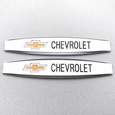 NEW (2pc) CHEVROLET LOGO FENDER METAL EMBLEM NAMEPLATE BADGE EM097