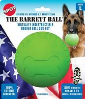 SPOT Ethical Barrett Ball Virtually Indestructible Rubber Ball | Large Dog Toy