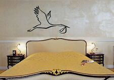 Wall Sticker Vinyl Decal Stork Bird Birth Wedding Decor for Bedroom (ig1186)
