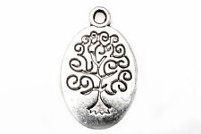 Free Shipping 10 PCS Tibetan Silver Crafts Oval Flowers Charms Pendants za15
