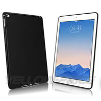High Impact Resistant Back Cover Skin For iPad Air 2/iPad 6 Black/Clear TPU Case