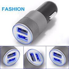 Mini Universal Dual Twin Port 12v USB Car Charger Lighter Socket Adapter Plug