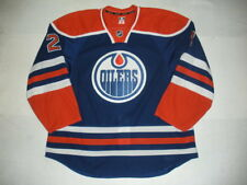 2013-14 Jeff Petry Edmonton Oilers Game Used Worn Reebok Hockey Jersey! MeiGray