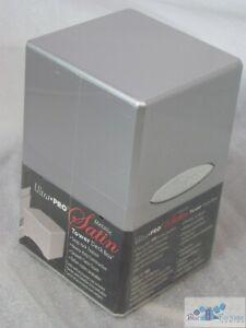 ULTRA PRO Metallic Silver SATIN TOWER DECK BOX COMPARTMENT FOR DICE MTG POKEMON