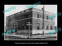 OLD LARGE HISTORIC PHOTO OF CHADRON NEBRASKA, US POST OFFICE BUILDING c1940