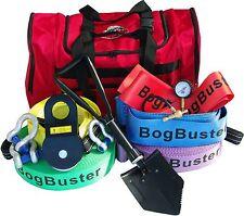 BOGBUSTER RECOVERY  KIT SNATCH WINCH STRAP SHACKLE BLOCK DEFLATOR BAG SHOVEL 4X4