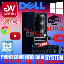 ORIGINAL DELL OPTIPLEX 3040 PC COMPUTER SSF i5 6GEN 8GB 1TB FREE KEYBOARD MOUSE