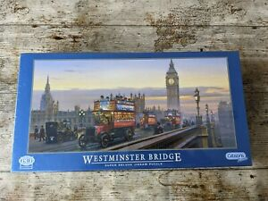 Gibsons Westminster Bridge 636 Piece Super Deluxe Puzzle New & Factory Sealed