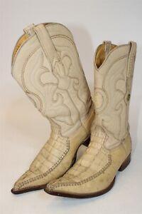 Los Altos Mens 8 Crocodile Skin Leather Exotic Western Cowboy Boots