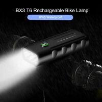 Brillant 1500LM CREE T6 LED Lampe de Vélo Lampe Avant +Arrière USB Rechargeable