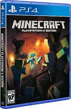Minecraft PlayStation 4 PS4 Games Brand New Video Game Sealed Free Shipping!