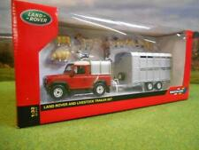 43138A1  Britains Sheep Farmer set Land Rover & Trailer   1:32